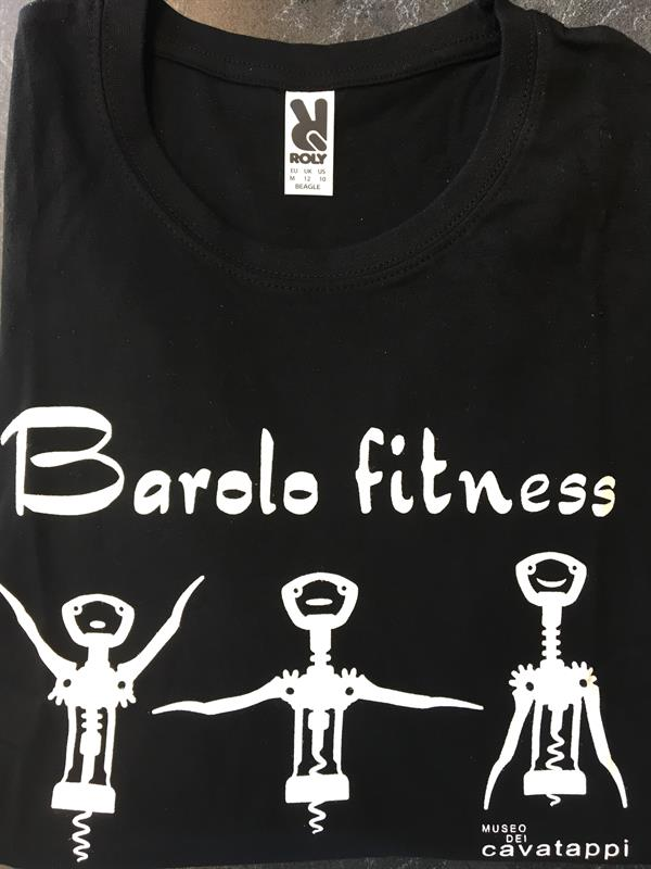 T-shirt Barolo Fitness, sort, str. XL